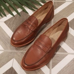 J Crew Size 8.5 Ryan Penny Loafer Leather Brown